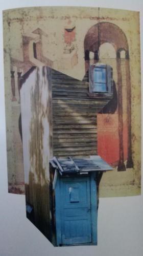Иконостас в городском пространстве 1999. 30 на 21см. коллаж