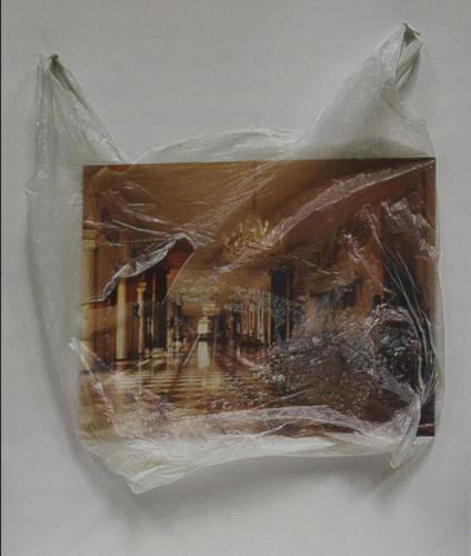 Из серии пакеты. Коллаж.1990. 62 на 51см