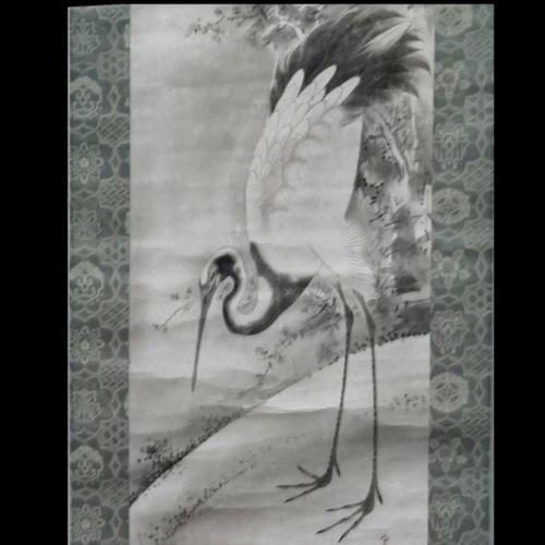 Дзюродзин, олень и журавль (фрагмент)Сога Сёхаку