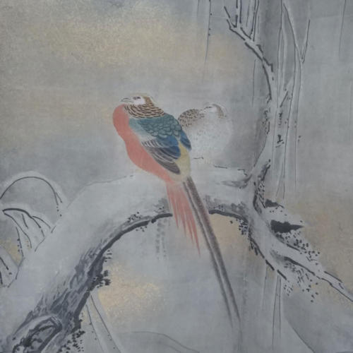 Цветы и птицы четырёх времён года(фраг мент)Кано Цунэнобу